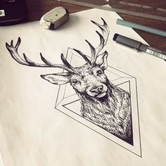 Image result for deer tattoo