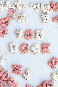 You rock!  Sprinkled alphabet cookies