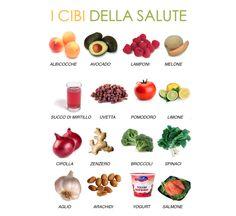 i cibi della salute #infographic #food