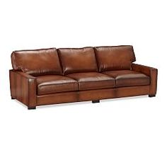 $3200->2400, 104.5, Turner Square Leather | Pottery Barn