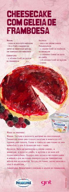 Receita de cheesecake de framboesa - Receitas - GNT                                                                                                                                                     Mais                                                                                                                                                                                 Mais