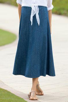 Denim Skirts For Ladies