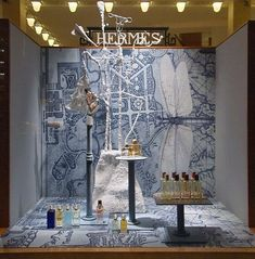 Hermes windows by Aga Ousseinov at Madison Avenue, New York, winter 2010.