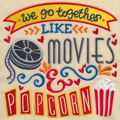 Go Together Like Movies & Popcorn 100% Organic by JustAddPillow
