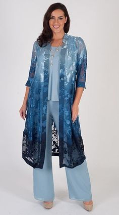 Modest Clothing for Women occasionwear fashion long sleeve dresses blouses skirts jackets beaded kaftan tunics collared tops linen trouser suits Mother Of The Bride Trouser Suits, Ladies Trouser Suits, Mother Of Bride Outfits, Mother Of Groom Dresses, Bride Dresses, Navy Wedding Guest Dresses, Race Day Outfits, Modele Hijab, Cozy Outfits