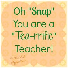 This simple Teacher Appreciation gift idea using Snapple tea is sweet and simple. Get the free printable teacher appreciation gift tags to use during Teacher Appreciation Week. Teacher Thank You, Teacher Gifts, Math Teacher, Student Gifts, Teacher Stuff, Teacher Appreciation Quotes, Staff Appreciation, Tea Riffic, Free Printable Gift Tags