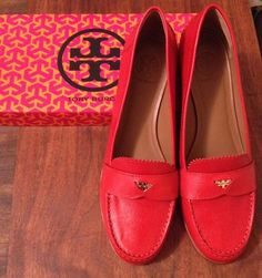 red penny loafers. Is it weird that i think loafers are adorable?