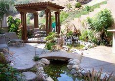 Hay muchas ideas para estanque de jardín aqui te presentemos las decoraciones mas comunes que uno puede usar en su jardín para darle un toque natural.