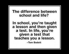 Quote of the day: School vs life http://goo.gl/EtPG8U  http://www.thehansindia.com/posts/index/2014-10-04/Quote-of-the-day-School-vs-life-110109
