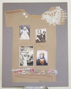 Stitched collage Family Ties by ColetteCopeland on Etsy, $47.00