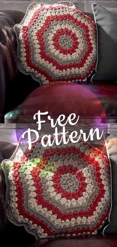 PUFFED UP CROCHET PILLOW PATTERN #crochetpillow #crochetpatern #pillowpattern