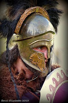 "Kratos, greek warrior of ""Simmachia Ellenon"", Italy"