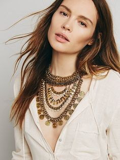 Noir Xavier Statement Collar at Free People Clothing Boutique