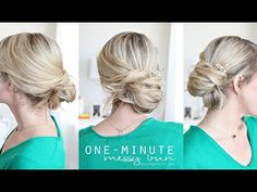I feel like I need to film ten one-minute messy bun tutorials or something. They'll save your life when you need something fast and fancy!