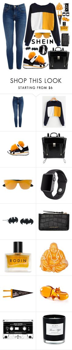 """""""SheIn Color Block Sweatshirt!"""" by nvoyce ❤ liked on Polyvore featuring Pierre Hardy, 3.1 Phillip Lim, RetroSuperFuture, Apple, Alexander McQueen, Rodin, Mario Luca Giusti, Jonathan Adler and D.L. & Co."""