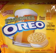 Things We Saw Today: Who Needs Hogsmeade, Oreo May Have A Butterbeer Flavor Weird Oreo Flavors, Pop Tart Flavors, Cookie Flavors, Funny Food Memes, Food Humor, Oreos, Harry Potter Food, Snack Recipes, Snacks