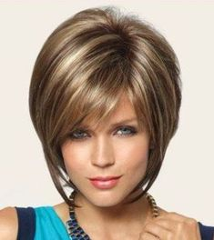 [Visit to Buy] Les cheveux perruque Straight Hair American Realistic Wig Short Hair Fashion Short Women's TOP quality Heat Resistant Hair wigs Stacked Bob Hairstyles, Short Hairstyles For Women, Wig Hairstyles, Straight Hairstyles, Bob Haircuts, Haircut Bob, Modern Haircuts, Hairstyles 2018, Medium Hairstyles