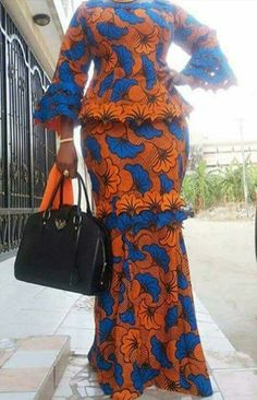 latest ankara skirt and blouse skirt and blouse style for wedding, native skirt and blouse styles,la Latest African Fashion Dresses, African Dresses For Women, African Print Dresses, African Print Fashion, Africa Fashion, African Attire, African Wear, African Women, African Prints