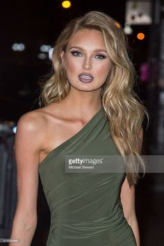 Model Romee Strijd attends the Victoria's Secret Swim viewing party at Marquee on March 9, 2016 in New York City.