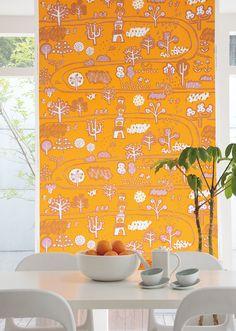 """Kawa"" Marimekko fabric designed by Masaru Suzuki via FABRIC | OTTAIPNU"