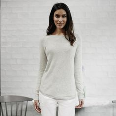 Diagonal Rib Front Jumper | The White Company