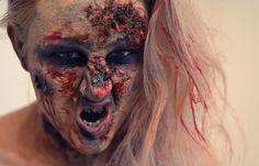 "Halloween Make Up: Horror Zombie Girl - ""the walking dead"" --> klick to see more Halloween Looks: http://www.viktoriasarina.com/search/label/Halloween"