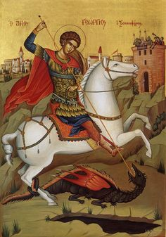 Orthodox Thought for the Day: On the Great Martyr George Catholic Art, Religious Art, Saint George And The Dragon, St Georges Day, Christian Religions, Byzantine Icons, Orthodox Icons, Christianity, Saints