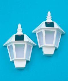 Outdoor Wall Lights 2 Wall-Mounting Solar Lights Front Door Or Garage Lights