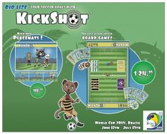 Celebrate World Cup 2014 with KickShot #Soccer #Boardgame available from www.kickshot.org, #Amazon or #Ebay.