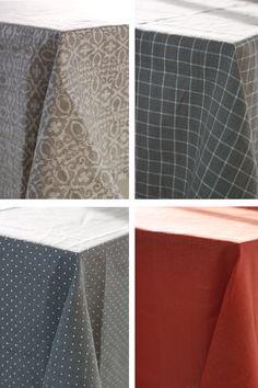 Natural linen tablecloth jacquard linen tablecloth by feellinen
