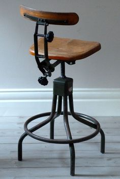 Vintage Evertaut Industrial Stool  c. 1940's. £295.00, via Etsy.