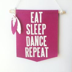 dance banner | girls room decor | modern wall hanging | gift for dancers | teen bedroom decor | teen wall art | gifts for teens | by TheAnnexFeltStudio on Etsy https://www.etsy.com/ca/listing/519538967/dance-banner-girls-room-decor-modern