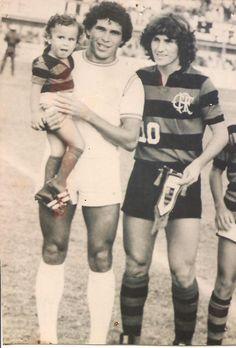 Zico na década de 70, num amistoso em Alagoas