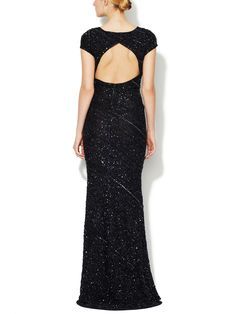 Gila Trapeze Hem Beaded Gown by Alice + Olivia