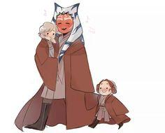 Ahsoka, little Luke and little Leia :3