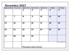 novembro 2017para imprimir, livre. Calendário mensal : Auxilius (Sf). A semana começa na segunda-feira