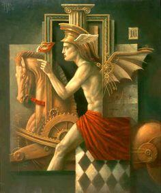 "Jake Baddeley  ""Hermes""  Oil on canvas, 2002."