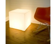 what a bright idea for a side table!