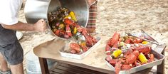 How to Host a One Pot Lobster Party via Potterybarn