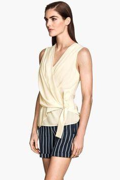 Blusa de gasa sin mangas | H&M