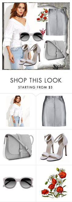 """""""Shein Blouse"""" by admira-mejerema ❤ liked on Polyvore featuring WithChic, Pierre Balmain, Gap and Ace"""