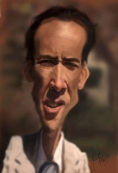 Caricatura de Nicolas Cage.