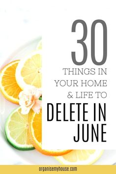 Love this simple decluttering list of things to delete from your home and life in June - and the free printable checklist makes things so easy to follow. This declutter will be great, and I can't wait to get started Old Cds, Clutter Free Home, Home Management Binder, Household Chores, Decluttering, Pick One, No Equipment Workout, Homemaking, Make It Simple