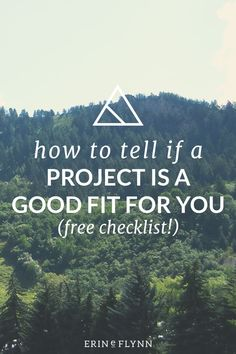 How To Tell If A Project Is A Good Fit For You | Not every project is a good fit. But sometimes as a freelancer, it can be hard to tell which projects are a good fit for you. Check out this blog post to get a free checklist and learn how to determine if a project is a good fit!