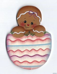 HP GINGERBREAD in an Easter Egg FRIDGE MAGNET