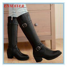 Nuevas-mujeres-botas-de-punta-redonda-hebilla-botas-de-caballero-botas-de-plataforma-para-mujeres-moda.jpg (627×629)