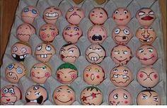 Huevos divertidos para pintar