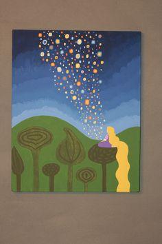 Painting for Rapunzel Tea Party