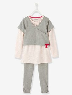 09f956556eb Girls 2-Piece Outfit Set - vertbaudet enfant Girl Outfits