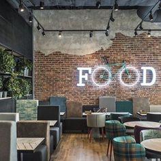 Decoración interior para un negocio de comida muy #vintage